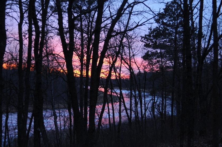 sunset shell river