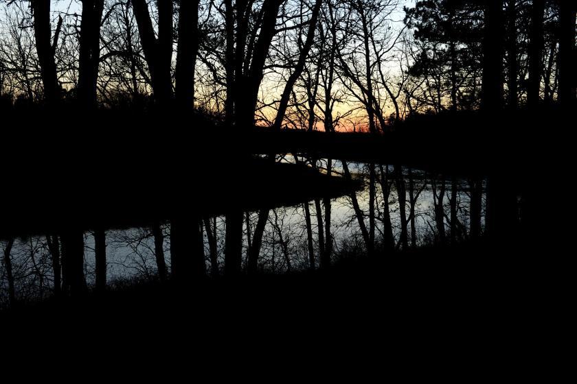 sunset over shell river november 8, 2015